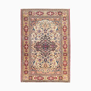 Antique Ispahan Rug with Middle Eastern Design on Medallion