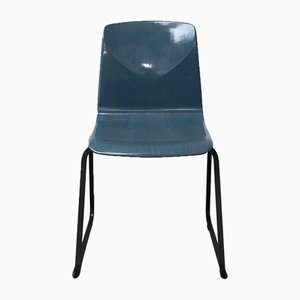 Sedia da pranzo S23 blu di Galvanitas, anni '60