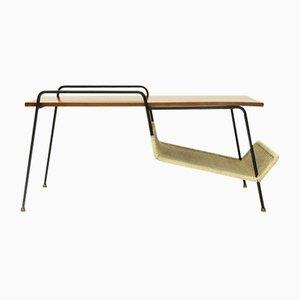 Table Basse Modèle T236 avec Porte-revue par Gastone Rinaldi pour Rima, 1950s