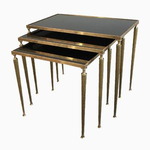 Brass Nesting Tables, 1940s