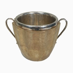 Galuchat and Silver Metal Champage Bucket by Aldo Tura, 1950s