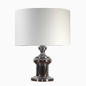 Lámpara de mesa de acero cromado, años 70