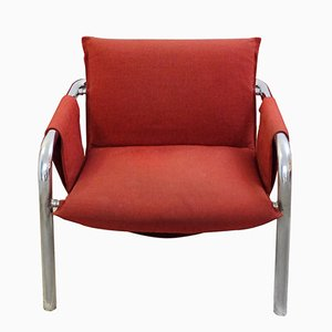 Vintage Tubular Chrome Frame Armchair