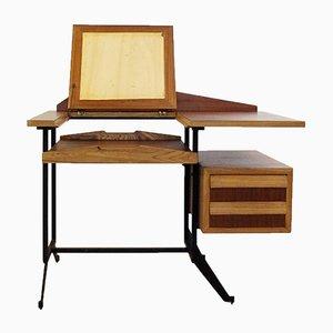 Kleiner italienischer Mid-Century Schreibtisch mit Schubladen
