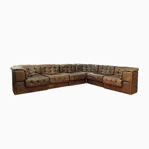 Vintage Large DS-11 Modular Patchwork Sofa from de Sede