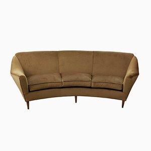 Italienisches 3-Sitzer Sofa aus Samt, 1950er