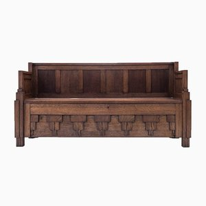 Art Deco Bench by Huib Hoste, 1920s