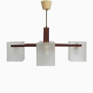 Lampe à Suspension Vintage avec 4 Abat-jours en Plastique, 1960s