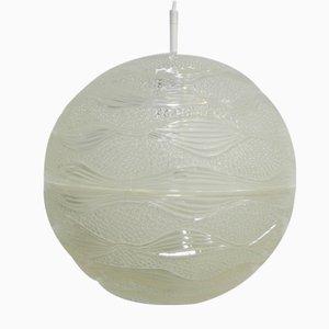 Lámpara colgante vintage con globo de plástico