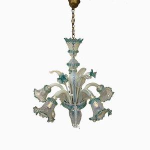 Lampadario vintage veneziano in vetro di Murano