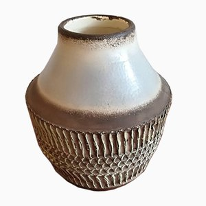 Art Deco Keramik Vase von Jean Besnard, 1930er