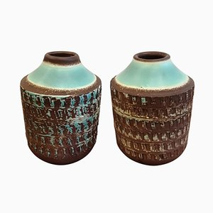 Art Deco Ceramic Vases, Set of 2