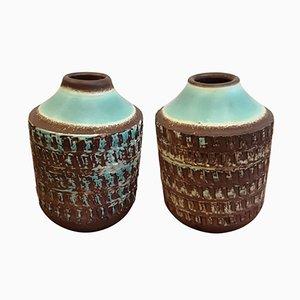 Vases Art Déco en Céramique, Set de 2
