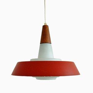 Lámpara colgante danesa de vidrio opalino, años 60