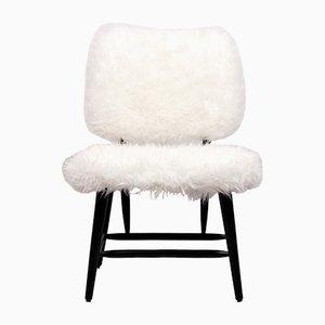 Schwedischer Stuhl aus Kunstfell, 1950er