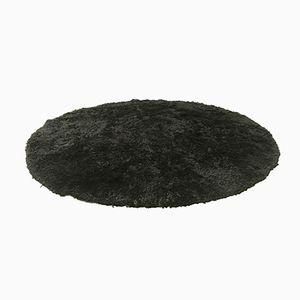 Tappeto a pelo lungo di lana nero di Missoni, Italia, anni '90