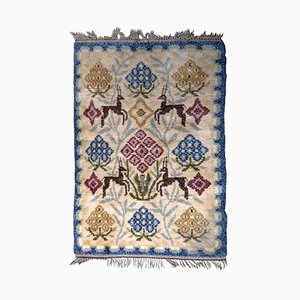 Tapis Rya Fait Main, Scandinavie, 1950s