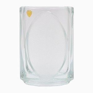 Jarrón Lotos de vidrio de Rudolf Jurnikl para Libochovice, años 70
