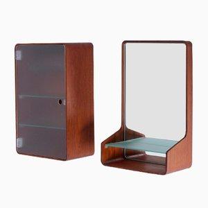 Euroika Set mit Wand Spiegel und Konsole von Friso Kramer für Auping, 1960er