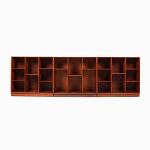 Solid Teak Bookcases by Peter Hvidt & Orla Mølgaard-Nielsen for Søborg Møbelfabrik, 1950s, Set of 3
