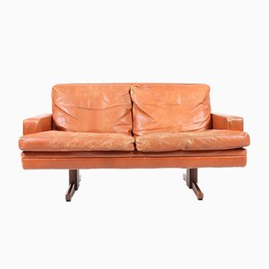 2-Seater Leather Sofa by Fredrik A. Kayser for Vatne Møbler, 1960s