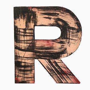 Letra R vintage, años 50
