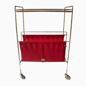 Vintage Trolley with Magazine Holder, 1960s