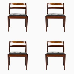 Universe Rosewood Chairs by Kai Kristiansen for Magnus Olesen, 1960s, Set of 4