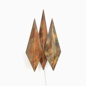 Diamond Kupfer Wandlampe von Svend Aage Holm Sørensen, 1960er