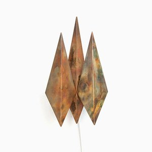 Diamond-Shaped Copper Sconce by Svend Aage Holm Sørensen, 1960s