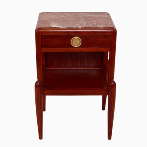 Art Deco French Mahogany Nighstand, 1920s