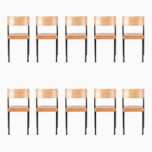 Chaises Empilables Vintage de Stride Furniture, Set de 10