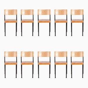 Sillas apilables vintage de Stride Furniture. Juego de 10