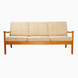 Vintage 3-Seater Teak Sofa by Ole Wanscher for Poul Jeppesen
