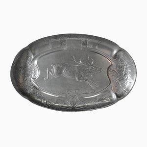 Zinn Tablett von Kayser, 1910er