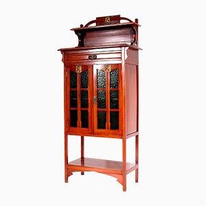 Art Nouveau Belgian Mahogany Cabinet, 1910s