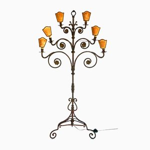 Wrought Iron Floor Lamp, 1940s