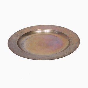 Großer runder Zinn Teller, 1820er