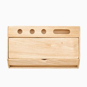 Handmade Estuche Wooden Desk Organizer and Smartphone Stand by Rafael Fernández for OITENTA