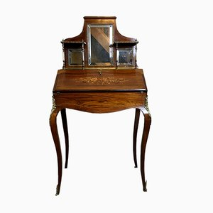 Antique French Rosewood Veneer Secretaire