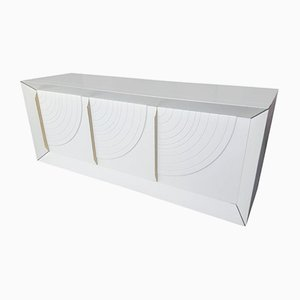 Italian White Lacquered Wood Sideboard, 1970s