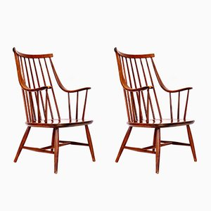 Swedish Armchairs by Lena Larsson for Nesto, 1960s, Set of 2