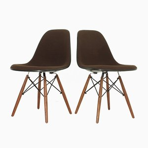 Vintage DSW Chairs by Charles and Ray Eames for Herman Miller, Set of 2