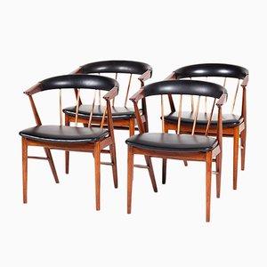 Chaises Modernes Mid-Century par Helge Sibast pour Sibast, Set de 4, Danemark, 1960s