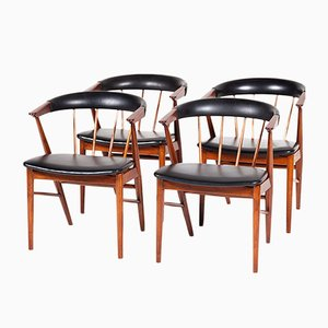 Mid-Century Modern Danish Chairs by Helge Sibast for Sibast, 1960s, Set of 4