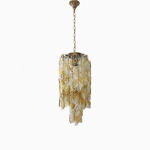 Lámpara de araña Torciglione italiana Mid-Century de cristal de Murano de Gino Vistosi