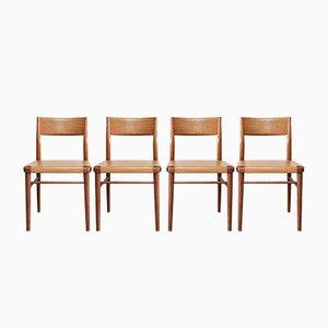 Deutsche Mid-Century 351/ 3 Esszimmerstühle von Georg Leowald für Wilkhahn, 1950er, 4er Set