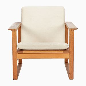 2256 Oak Armchair by Borge Mogensen for Fredericia Stølefabrik, 1950s