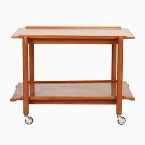 Teak Serving Trolley by Poul Hundevad, 1960s