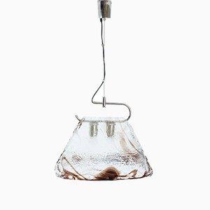 Lampada a sospensione in vetro di Murano di Carlo Nason per Mazzega, anni '70